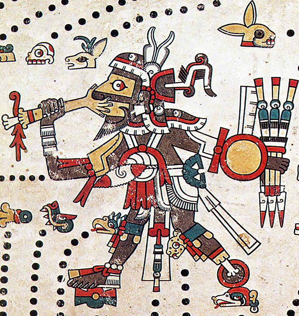 Тескатлипока. Фрагмент кодекса Фейервари-Майера. Ацтеки. Коллекция World Museum, Ливерпуль.