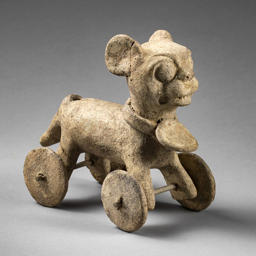 Фигурка в виде ягуара на колесах. Веракрус, 600-900 гг. н.э. Коллекция Princeton University Art Museum.