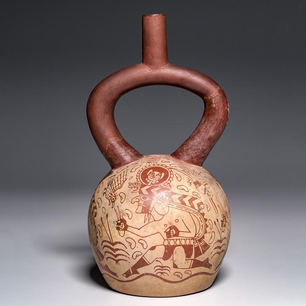 Сосуд с бегунами. Моче, Перу, 450-550 гг. н.э. Коллекция The Cleveland Museum of Arts.
