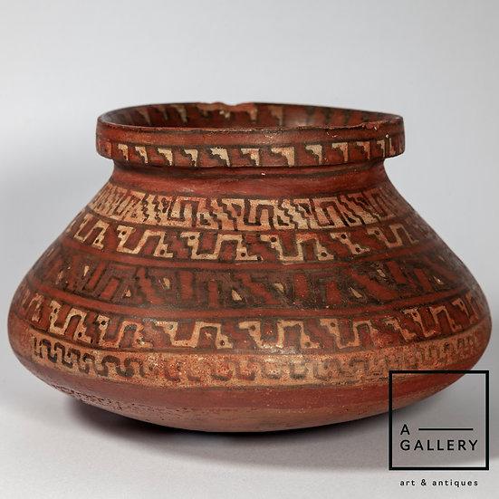 Сосуд с геометрическим узором, культура Ика-Чинча (900-1200 гг. н.э.)