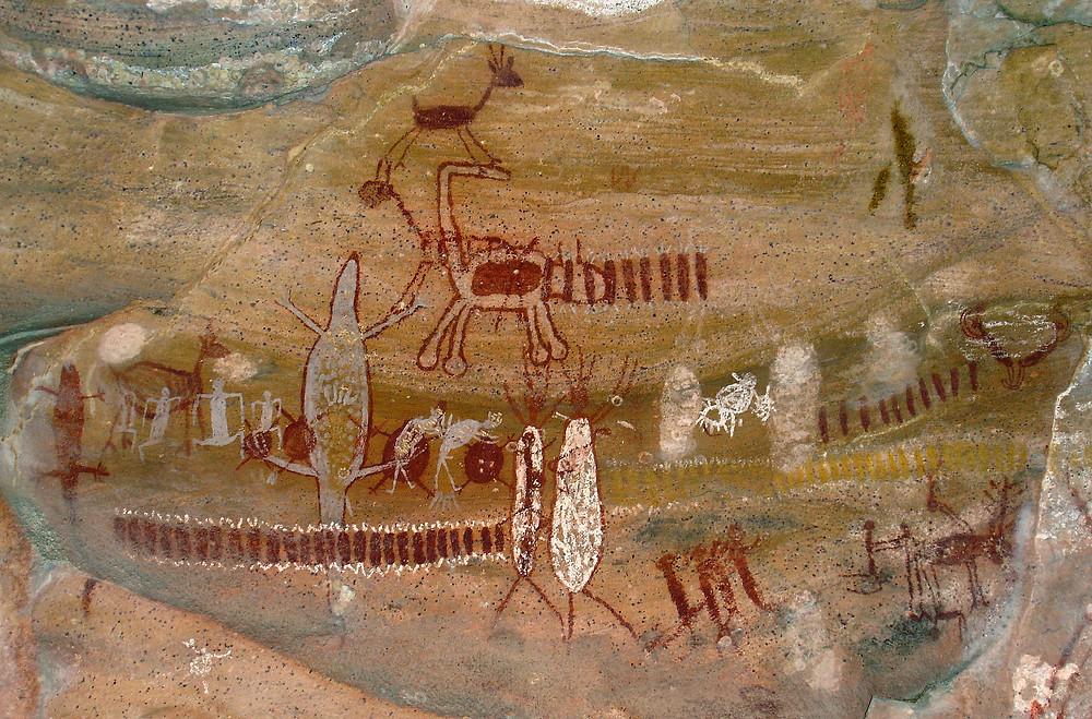 Наскальная живопись. Национальный парк Серра-да-Капивара.