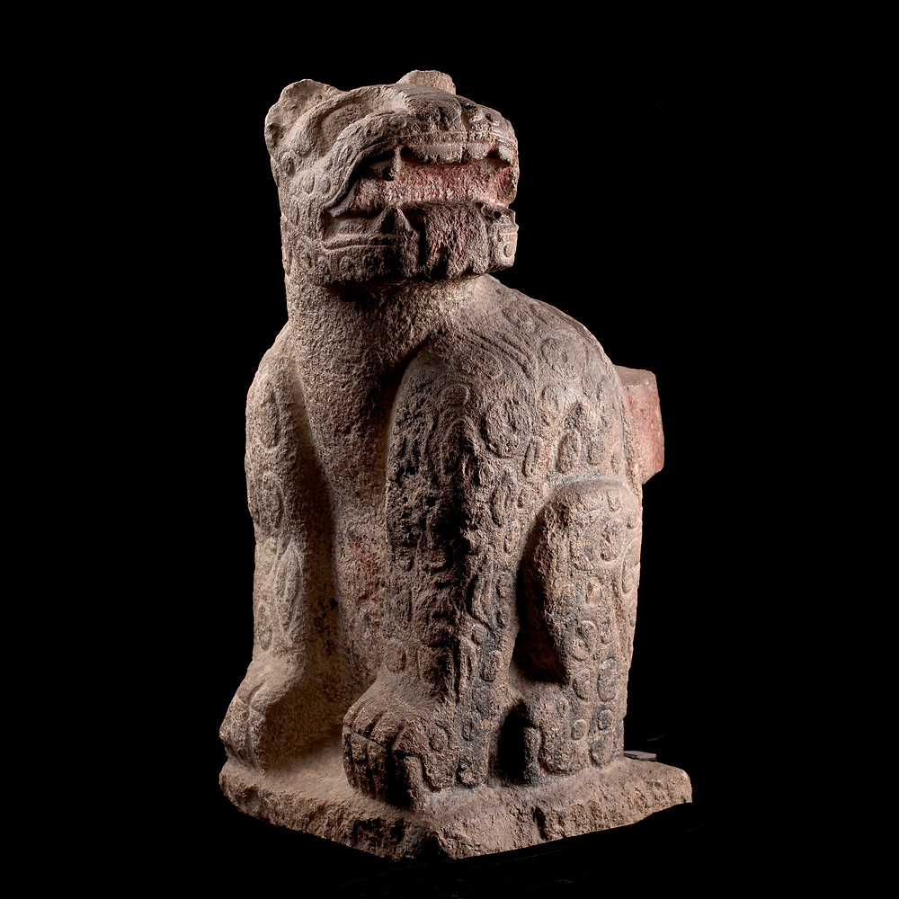 Ягуар. Майя, 900-1250 гг. н.э. Коллекция Museo Nacional de Antropología, Mexico City.