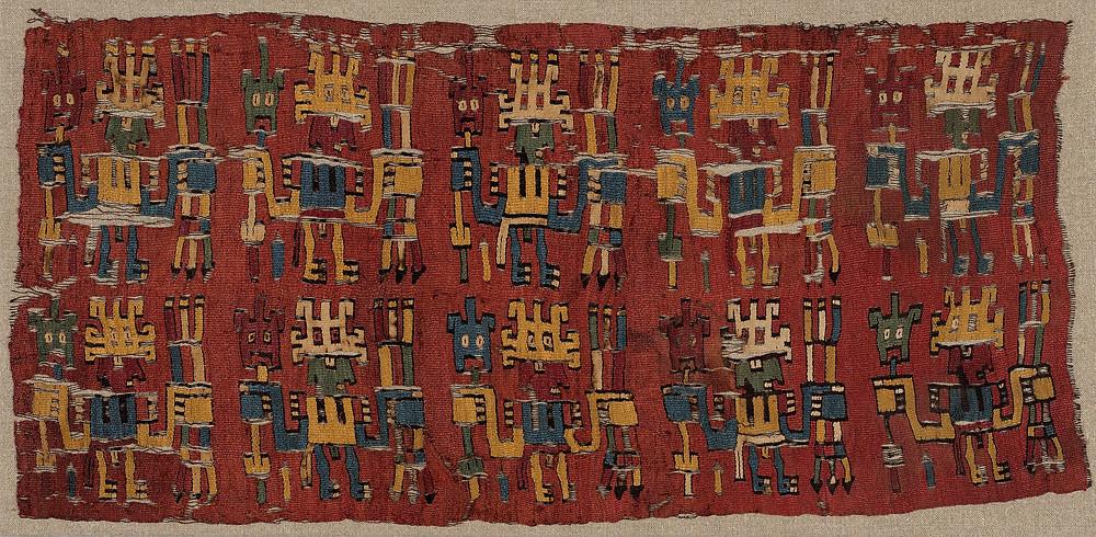 Фрагмент ткани. Наска, 500-600 гг. н.э. Коллекция Art Institute of Chicago.