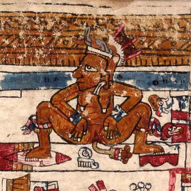 Тласольтеотль. Codex Vaticanus 3773. Коллекция Bibliotheca Apostolica Vaticana.