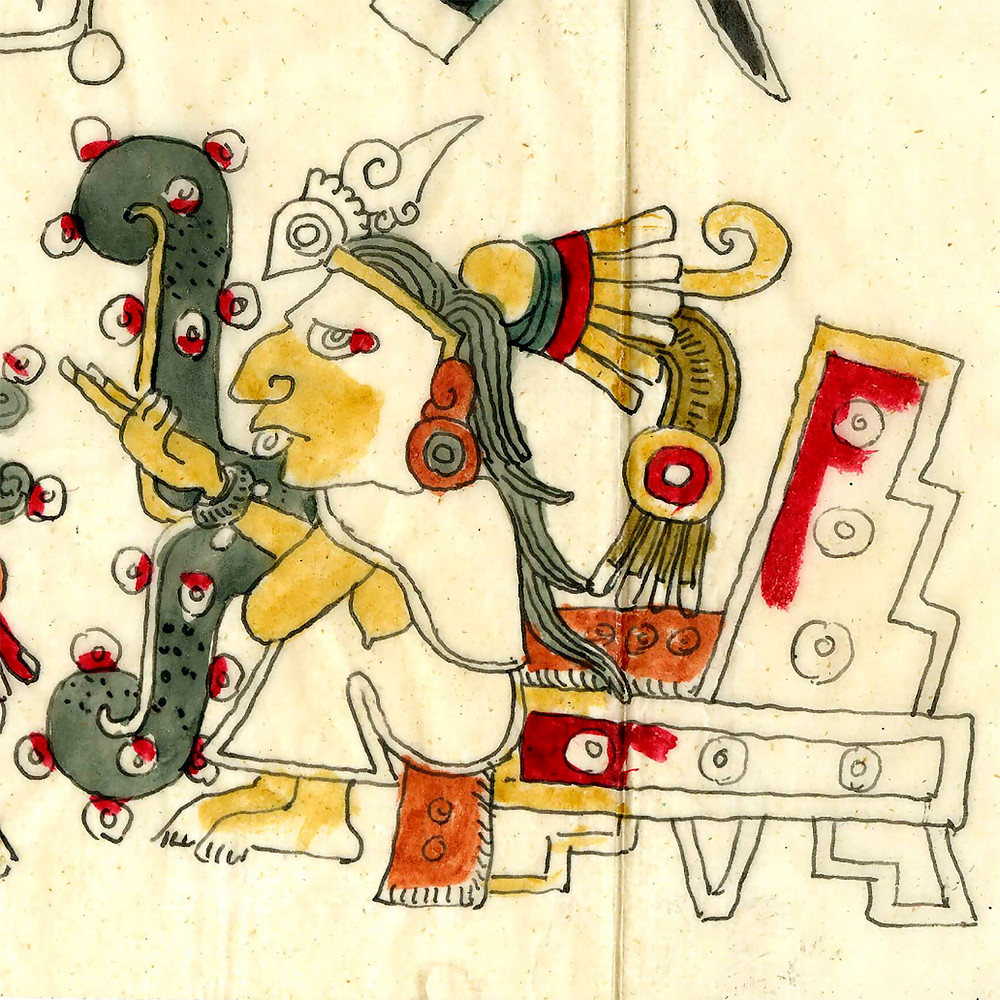 Тексистекатль. Кодекс Боджиа. Фрагмент факсимиле из коллекции The British Museum.