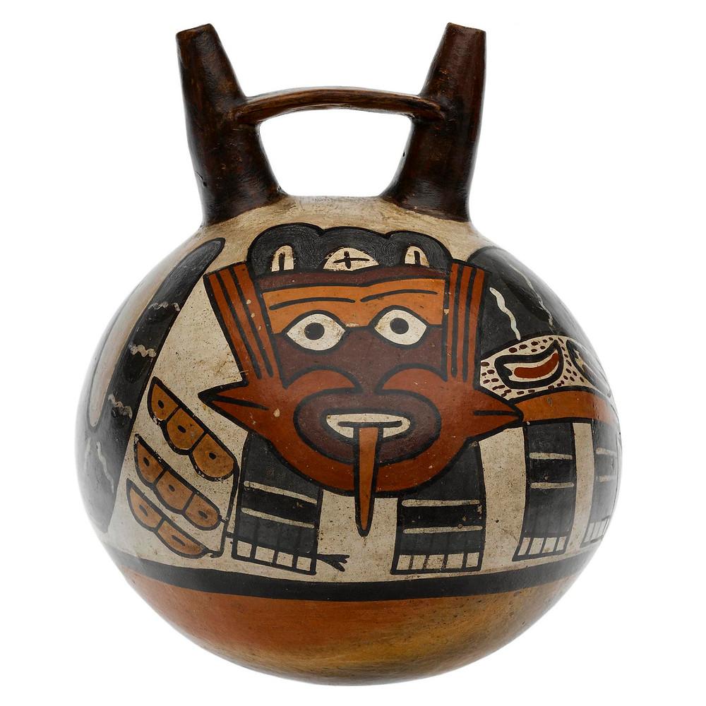 Сосуд. Наска, 200-300 гг. н.э. Коллекция National Museum of Scotland.
