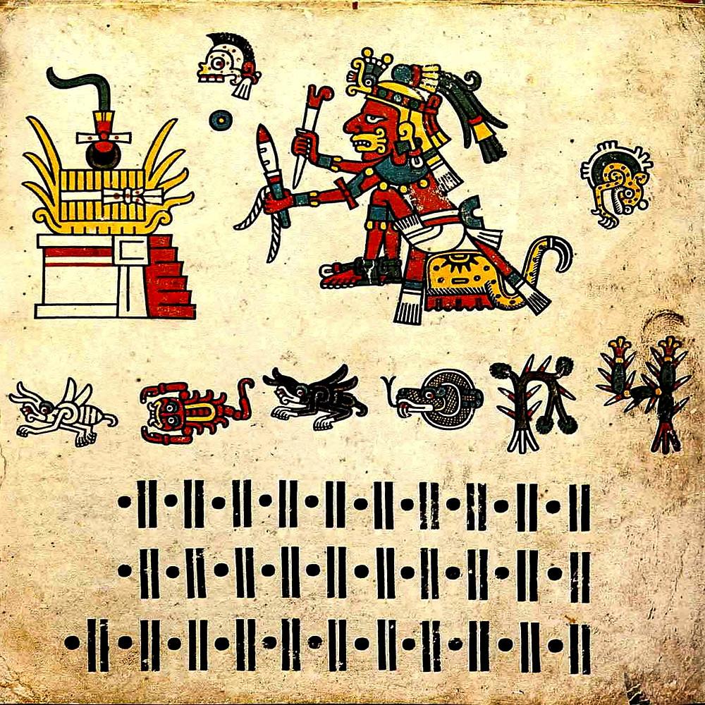 Фрагмент кодекса Фейервари-Майера. Ацтеки. Коллекция World Museum Liverpool.