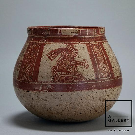 Расписной сосуд, культура Майя (500-800 гг. н.э.)