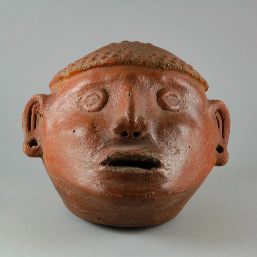 Трофейная голова. Коста-Рика, 500-1000 гг. н.э. Коллекция Brooklyn Museum.