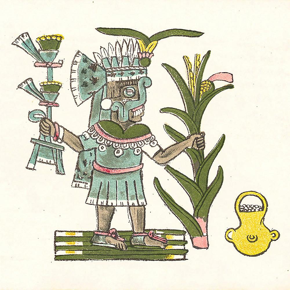 Тлалок. Кодекс Мальябекки, Ацтеки, 16 вв. Коллекция Biblioteca Nazionale Centrale di Firenze.