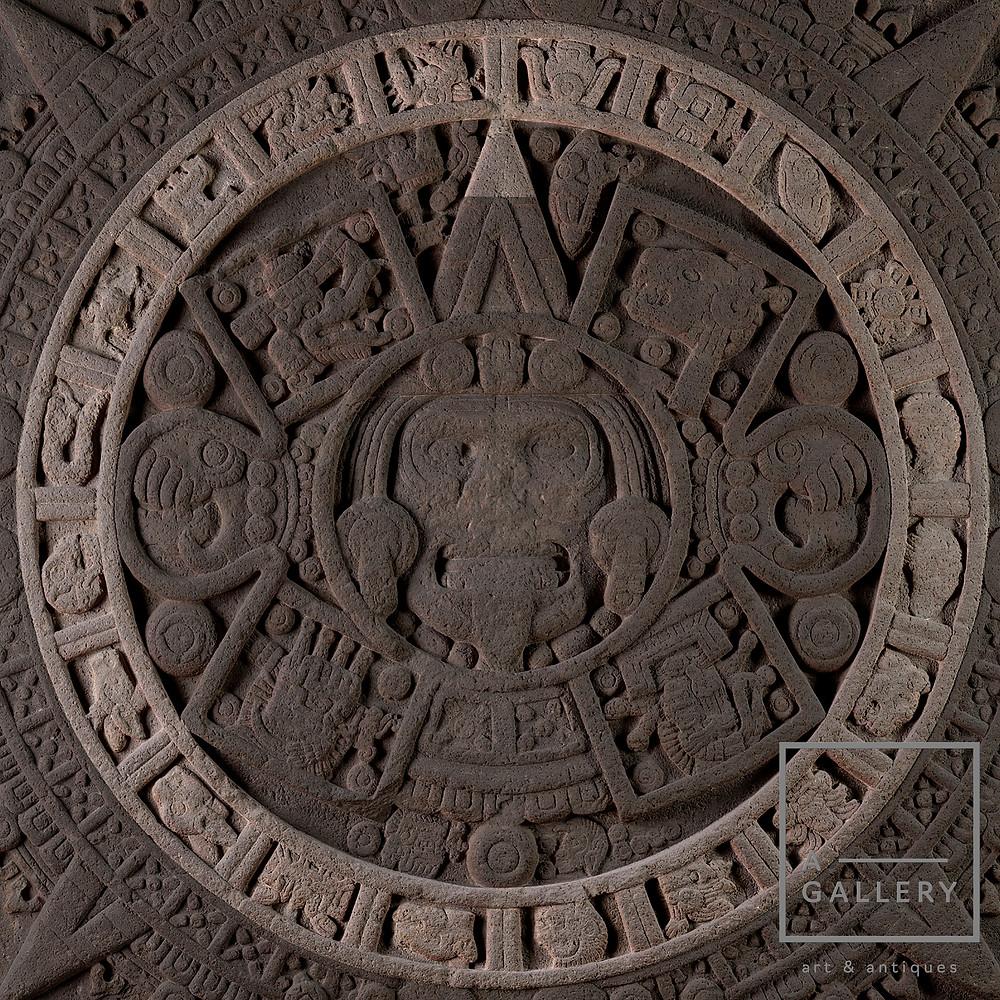 Знаки дней на Камне солнца. Ацтеки, 1250-1500 гг. н.э. Коллекция Museo Nacional de Antropologia, Мехико.