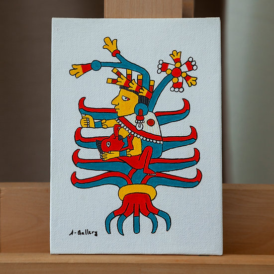 Майяуэль - богиня агавы и плодородия (ацтеки). Акрил на холсте