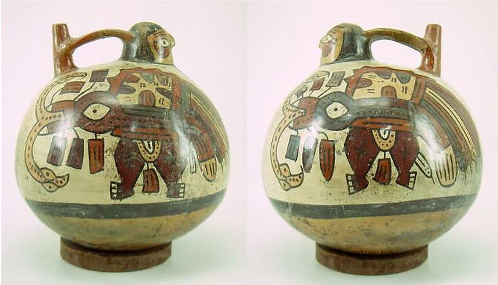 Сосуд. Наска, 1-800 гг. н.э. Коллекция Museo Larco, Lima.