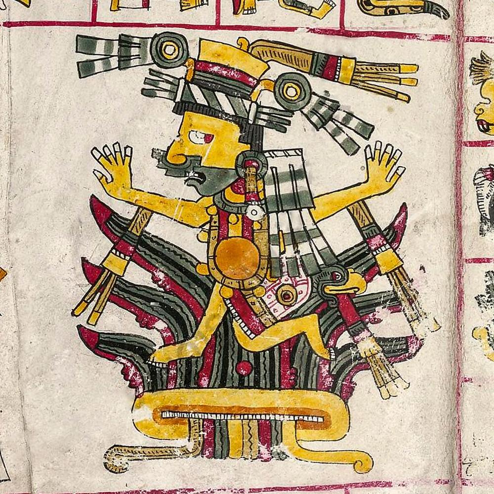 Майяуэль. Фрагмент кодекса Борджиа. Коллекция Bibliotheca Apostolica Vaticana.