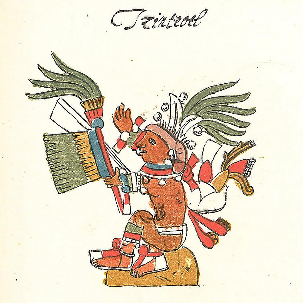 Центеотль. Кодекс Риос. Bibliotheca Apostolica Vaticana.