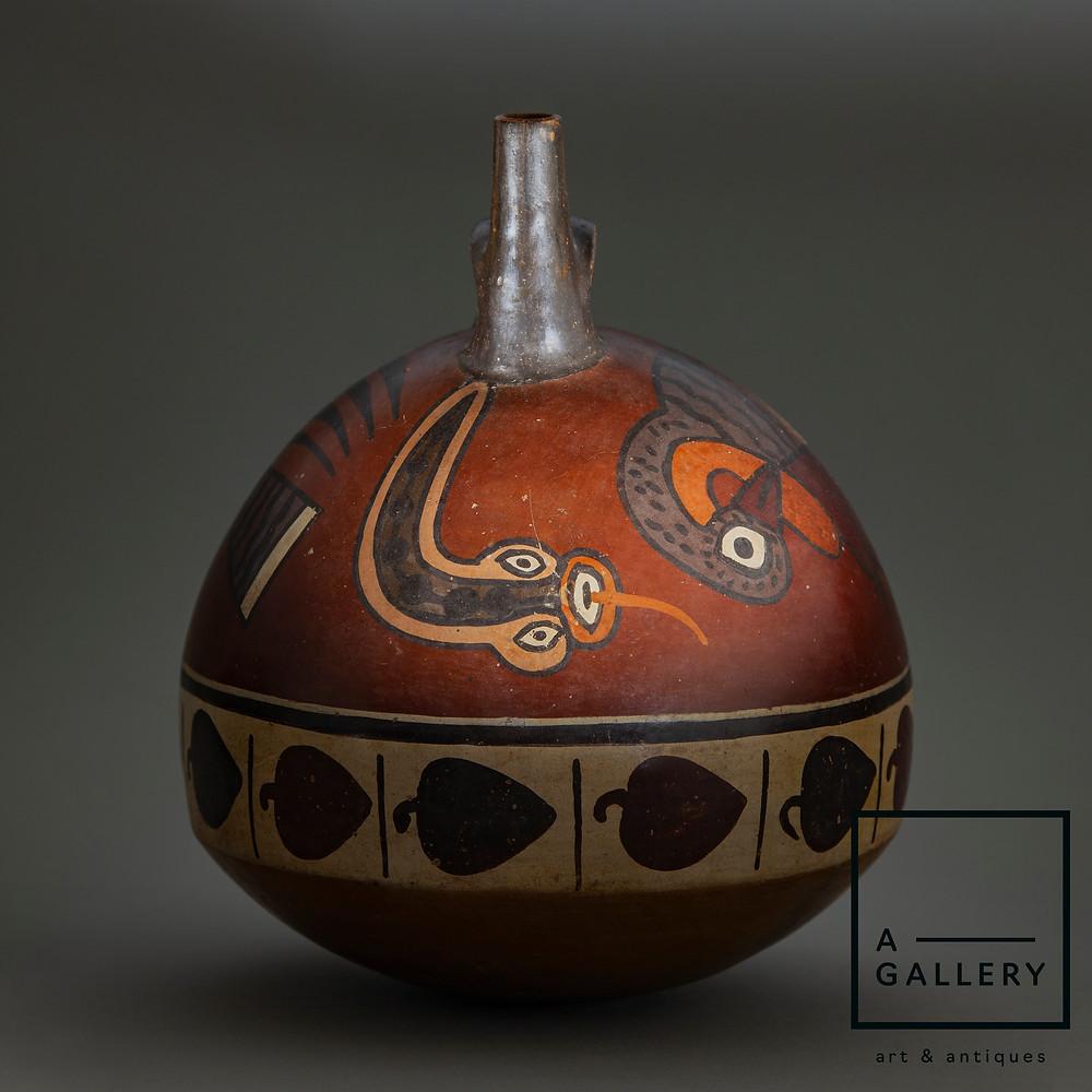 Шаровидный сосуд, Перу, культура Наска, 0-600 гг. н.э. Коллекция A-Gallery, Москва.
