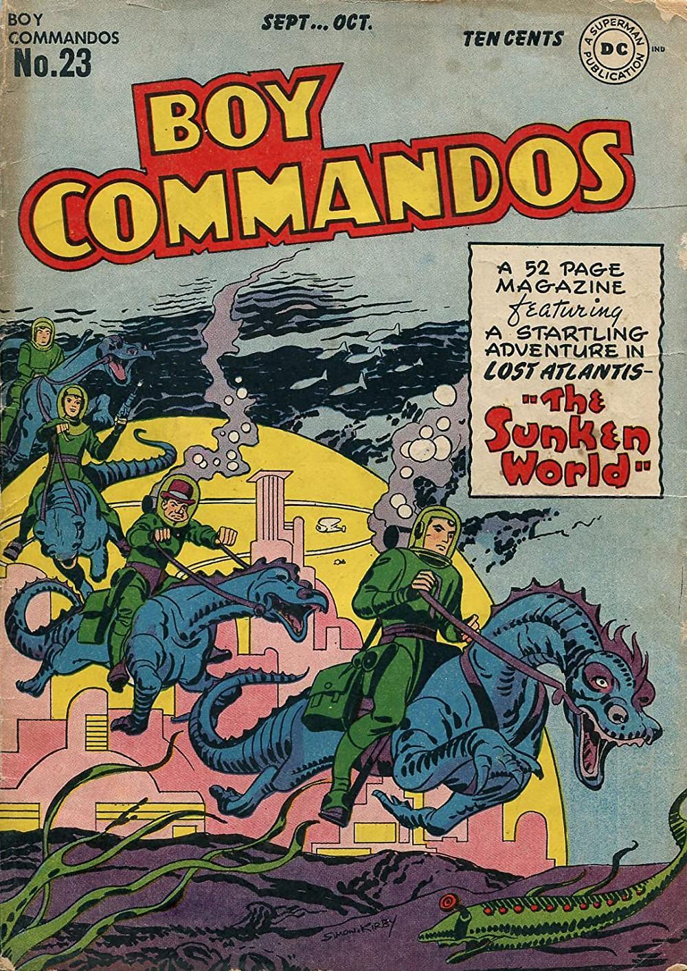 """Комикс """"Boy Commandos"""", №23, 1947 г.  DC Comics."""