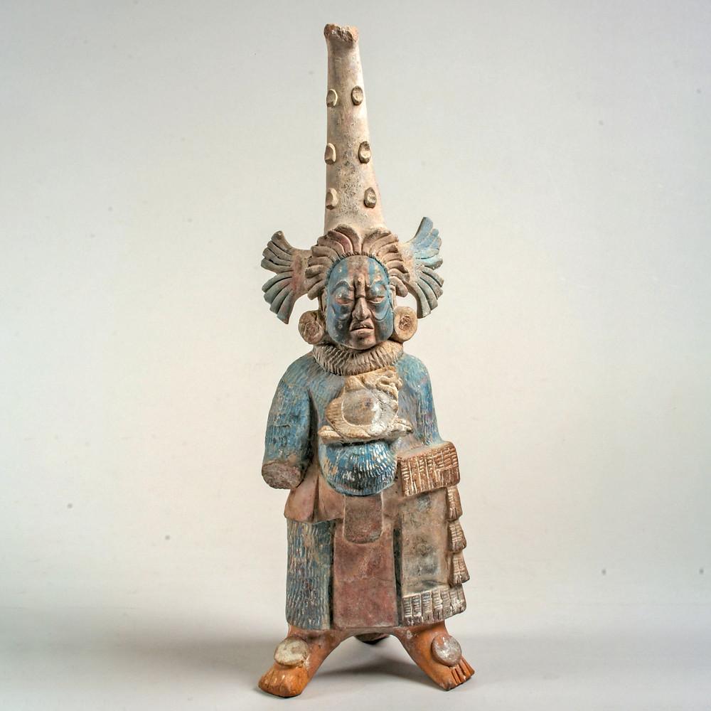 Скульптура с чертами Толстого бога. Майя, VII-VIII вв. н.э. Коллекция The Metropolitan Museum of Art.