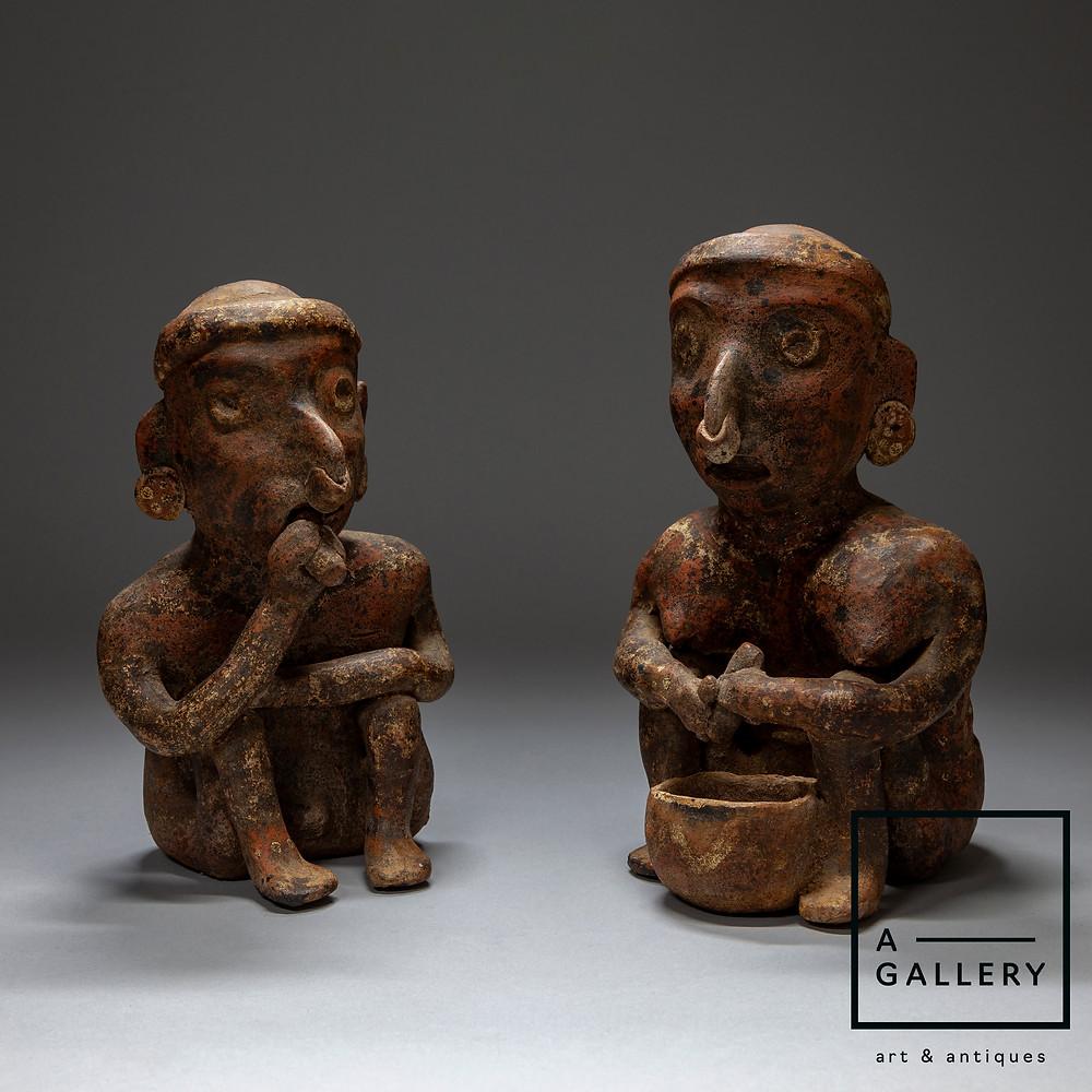 Пара фигур. Наярит, стиль Иштлан дель Рио, 100 г. до н.э.-250 г н.э. Коллекция A-Gallery, Москва.