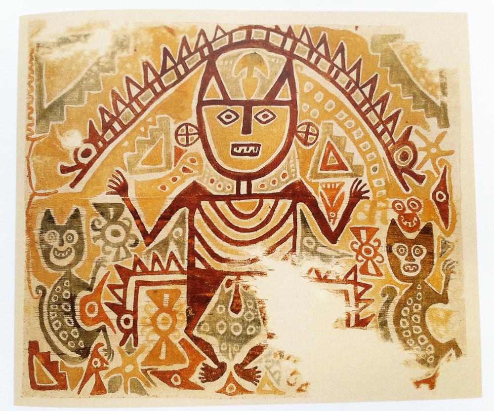 Ткань, Перу, 900-1100 гг. н.э. Коллекция Ethnographisches Museum, München.
