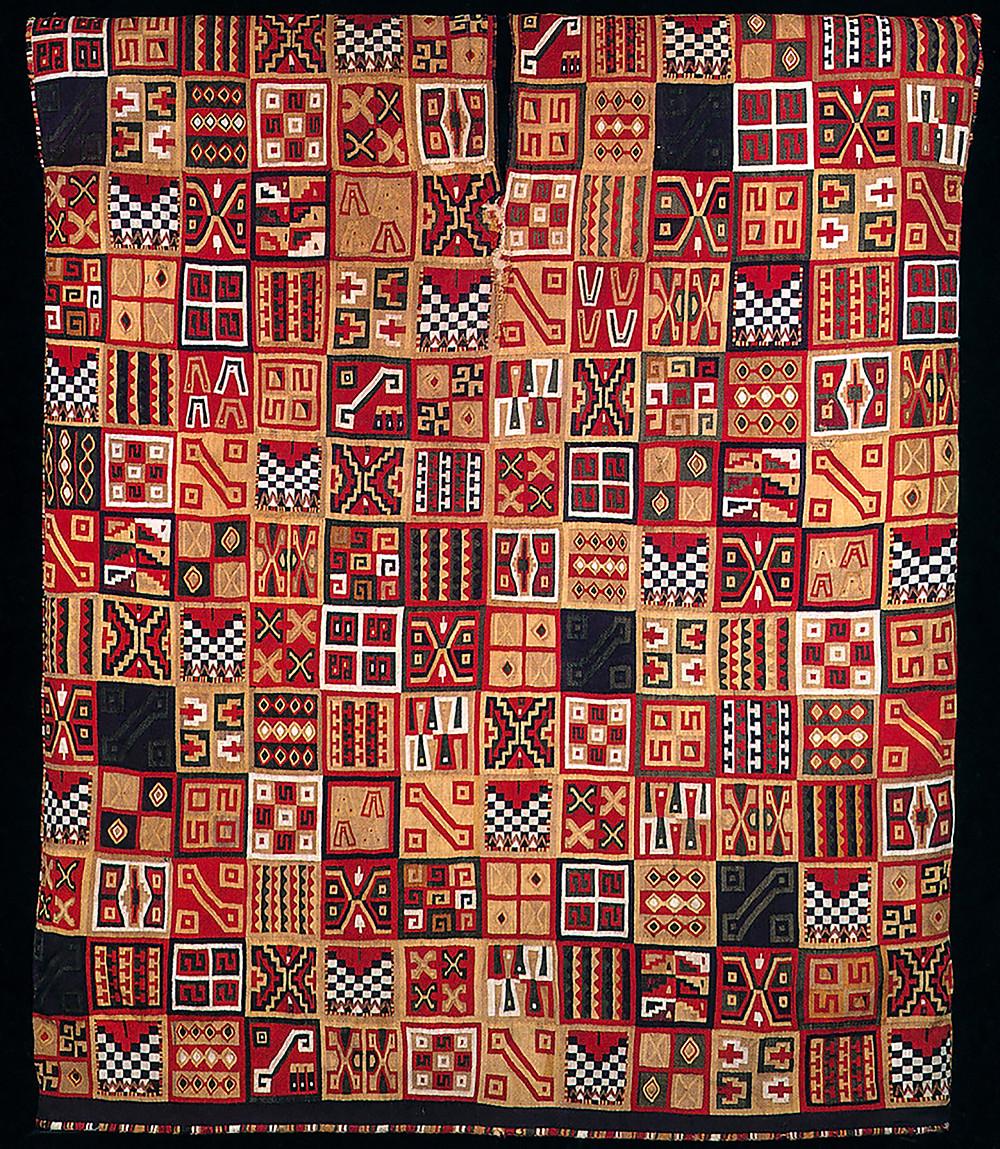 Туника всех токапу (обратная сторона). Инки, 1450-1540 гг. н.э. Коллекция Dumbarton Oaks, Washington.