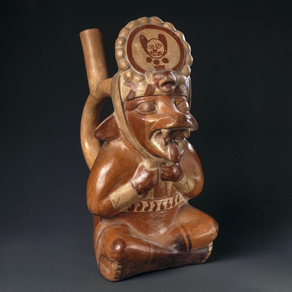 Антропоморфная лиса. Моче, Перу, 400 - 700 гг. н.э. Коллекция Brooklyn Museum.