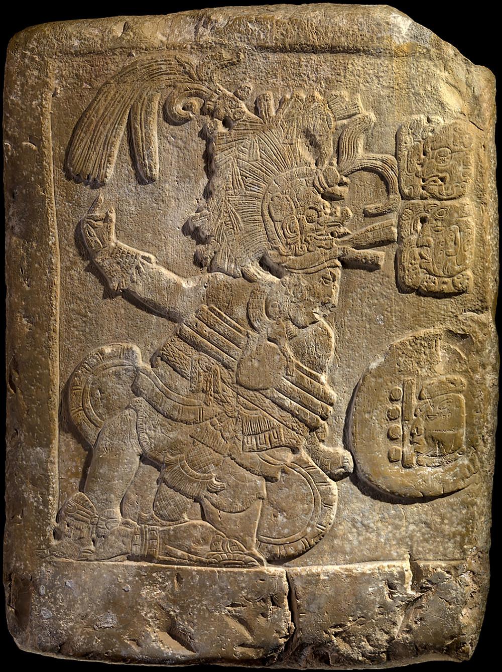 Барельеф с изображением игры в мяч. Майя, 600-750 гг. н.э. Коллекция The National Museum of the American Indian, New York.