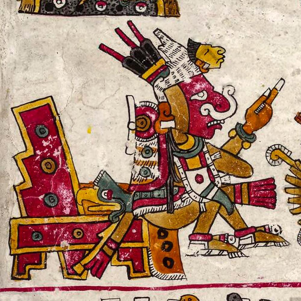 Патекатль. Кодекс Борджиа. Коллекция Bibliotheca Apostolica Vaticana.