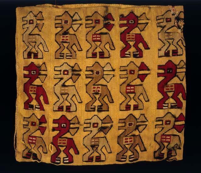 Сумка с изображениями лам. Перу, 1000-1534 гг. н.э. Коллекция Peabody Museum of Archaeology and Ethnology, Harvard University, Cambridge.