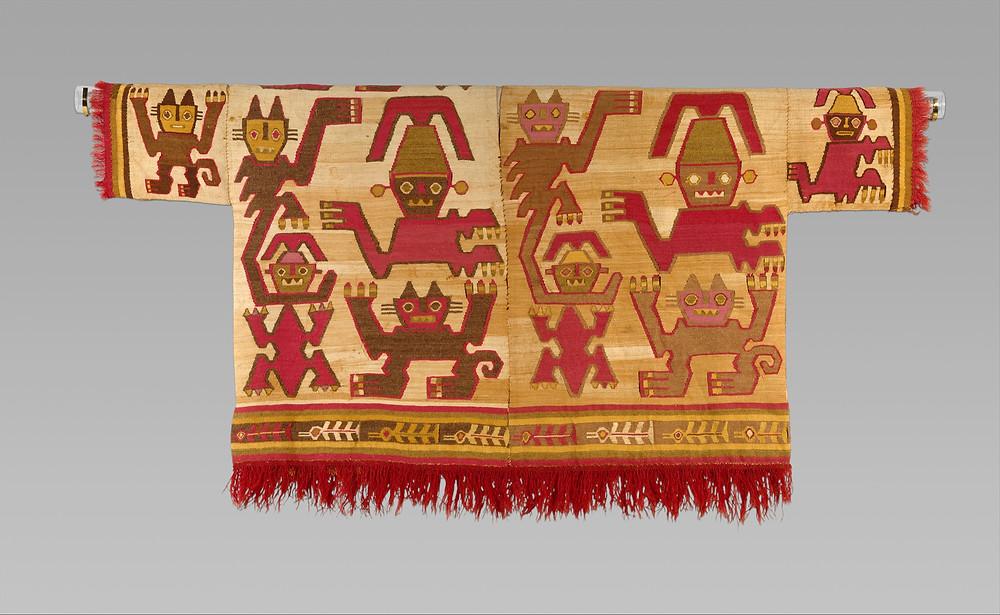 Туника. Культура Чиму, Перу, 1450-1550 гг. н.э. Коллекция Музея искусства Метрополитен.