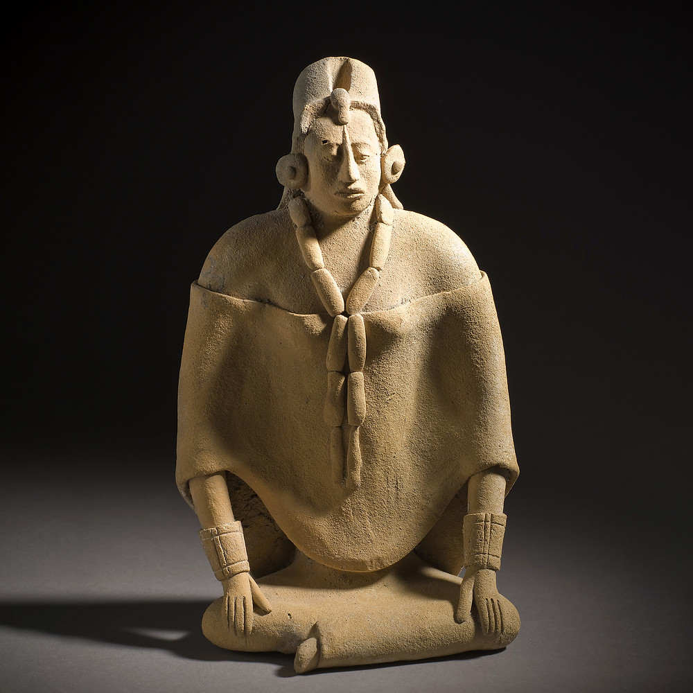 Свисток в виде женской фигуры. Майя, 600-900 гг. н.э. Коллекция Los Angeles County Museum of Art.