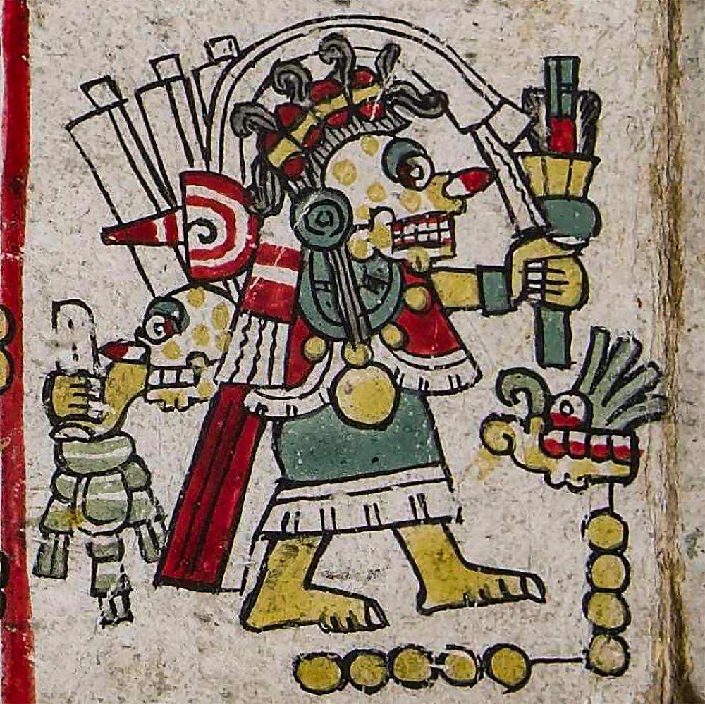 Миктлантекутли. Фрагмент кодекса Zouche-Nuttall. Коллекция British Museum.