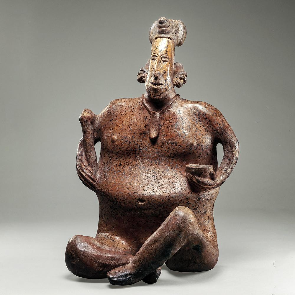 Индеец, готовящий пульке. Халиско, 100 гг. до н.э. -300 гг. н.э. Коллекция The Metropolitan Museum of Art.