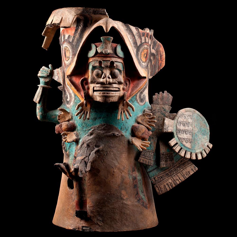 Изображение мертвого воина. Ацтеки, 1250-1500 гг. н.э. Коллекция Museo Nacional de Antropologia.