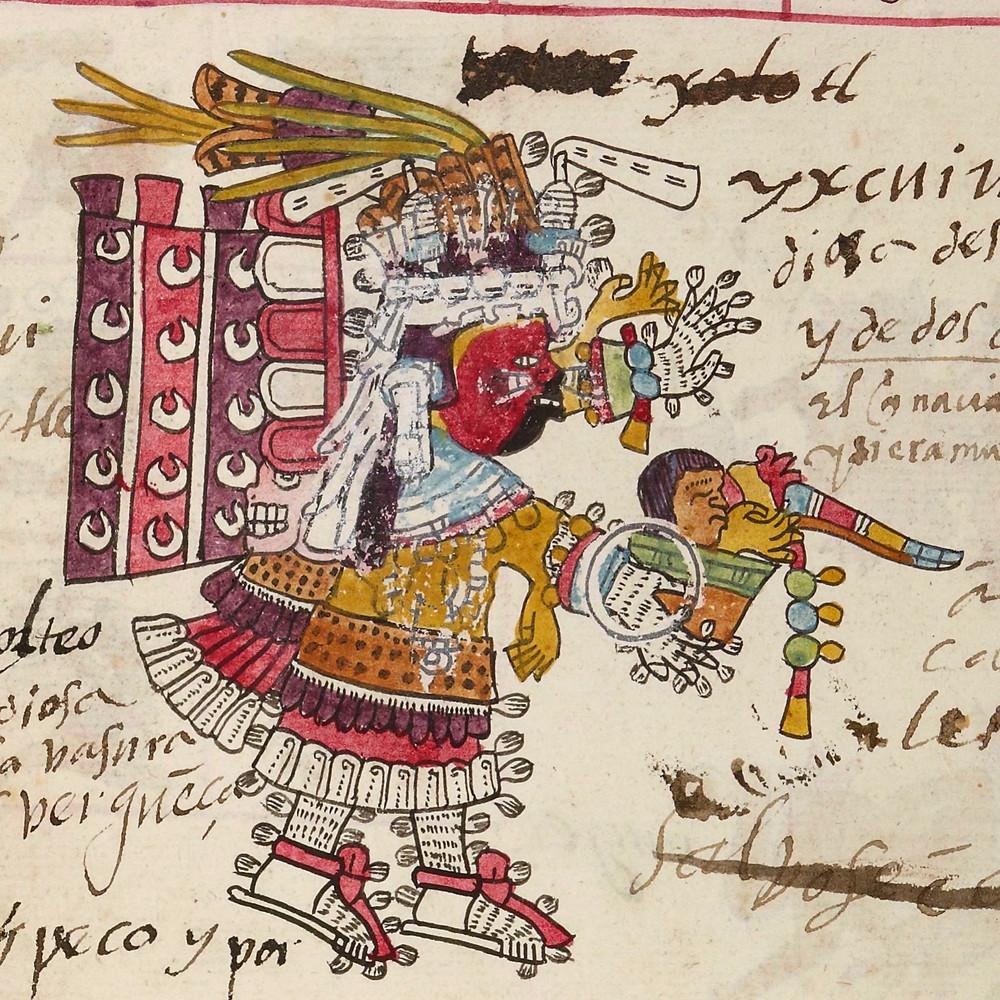 Тласольтеотль. Кодекс Теллериано-Ременсис. Коллекция La Bibliothèque nationale de France, Paris.