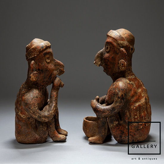 Пара фигур, культура Наярит, стиль  Иштлан дель Рио (100 г. до н.э.-250 г н.э.)