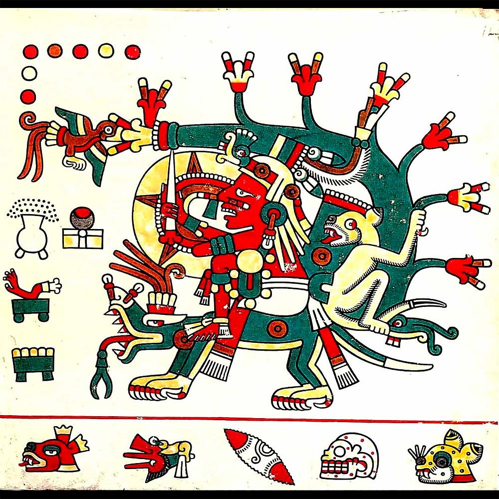 Тонатиу. Фрагмент кодекса Лауда.