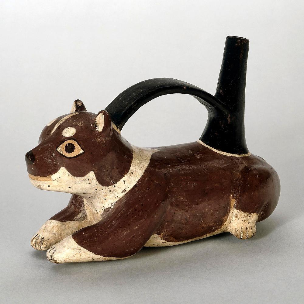 Сосуд в виде собаки. Наска, 100 гг. до н.э. - 600 гг. н.э. Коллекция The British Museum.