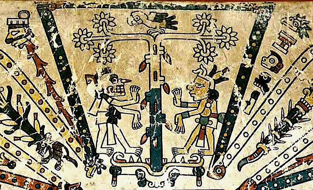 Юг. Фрагмент кодекса Фейервари-Майера. Ацтеки. Коллекция World Museum, Ливерпуль.