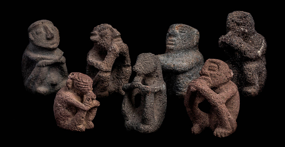 Фигуры шаманов. Коста-Рика, побережье Карибского моря, 1000-1500 гг. н.э. Коллекция Museo Nacional de Costa Rica.