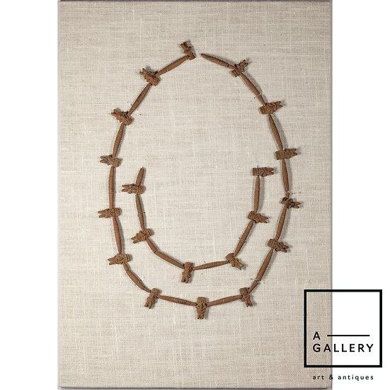 Ожерелье с антропоморфными вставками. Мичоакан (300 гг. до н.э. - 100 гг. н.э.)