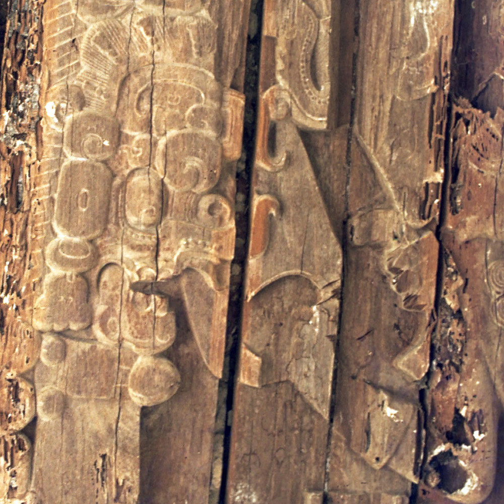 Рельеф из Храма жреца-ягуара. Тикаль.