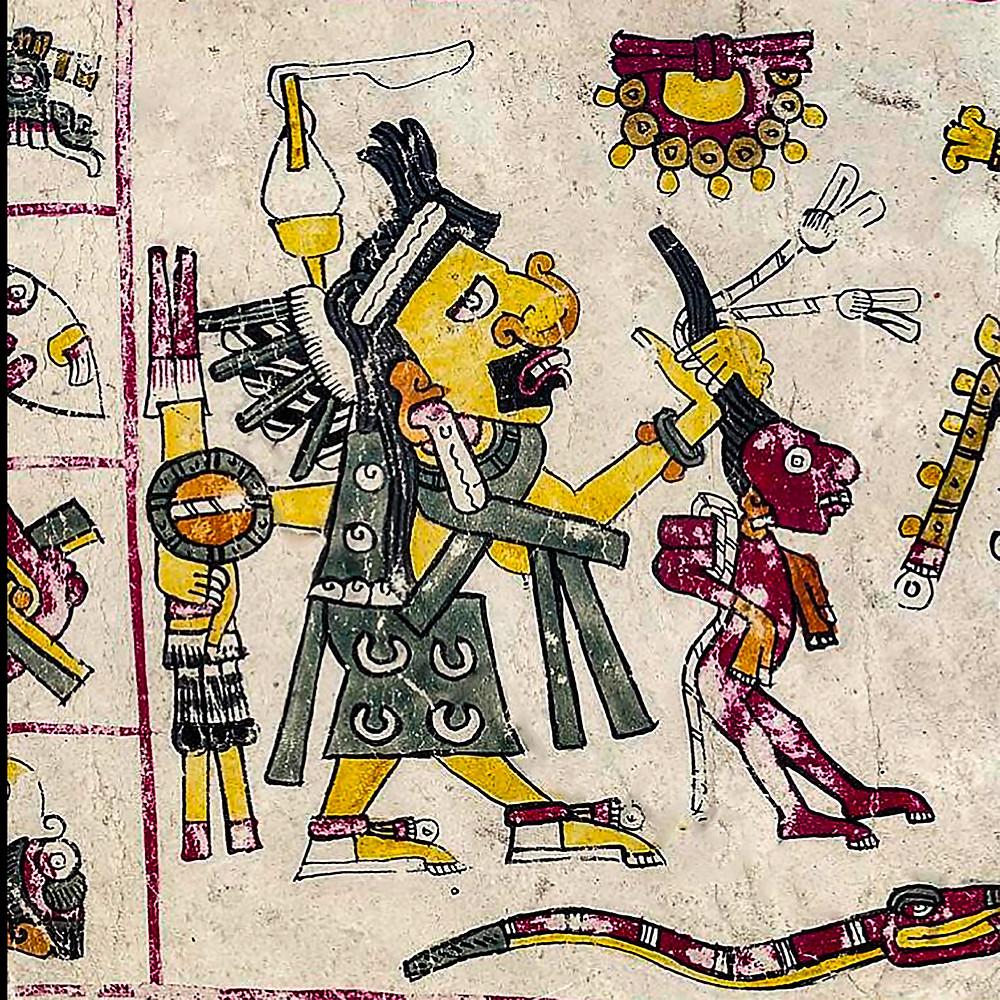 Тласольтеотль. Фрагмент кодекса Борджиа. Коллекция Bibliotheca Apostolica Vaticana.