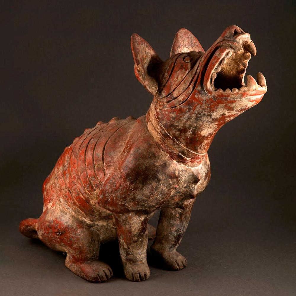 Собака. Культура шахтовых могил, Западная Мексика. Коллекция Museo Dolores Olmedo, Мехико.