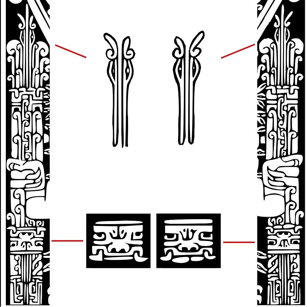 Фрагмент прорисовки стеллы Раймонди.