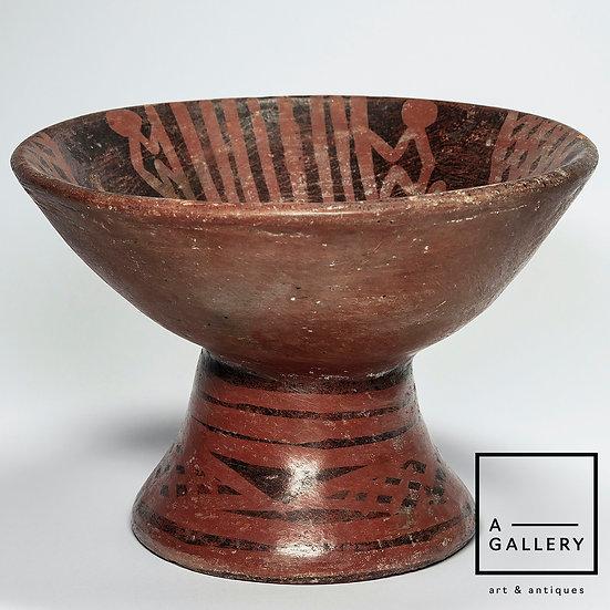 Чаша с изображениями обезьян, регион Нариньо-Карчи (1250-1350 гг. н.э.)