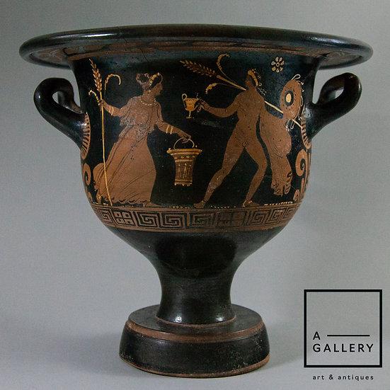 Кратер краснофигурный (Древняя Греция, середина IV века до н.э.)
