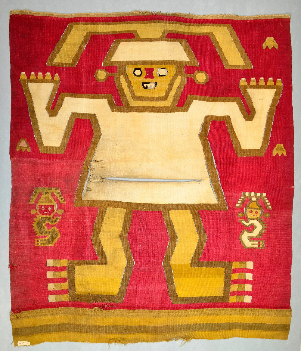 Ткань, Перу, культура Чиму, 12-15 вв. н.э. Коллекция The Metropolitan Museum of Art.