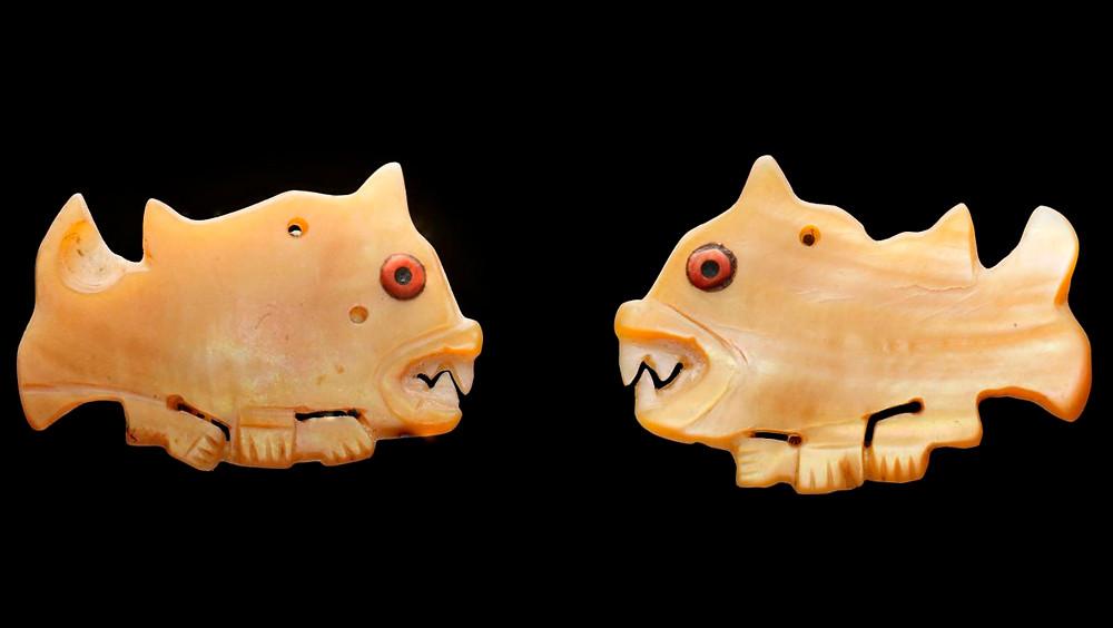Медальоны. Наска, 100 гг. до н.э. - 700 гг. н.э. Коллекция Museum of Fine Arts, Houston