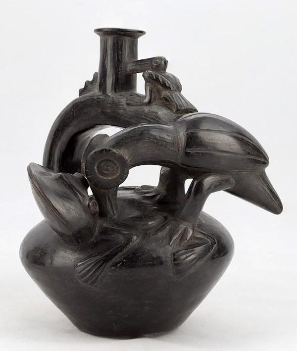 Сосуд, Чиму/Инки, 1430-1530 гг. н.э. Коллекция Музея Фаулера в Калифорнийском университете, Лос-Анджелес.
